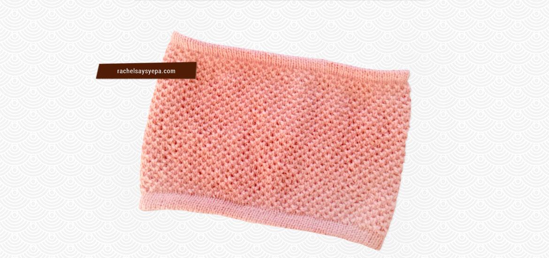 Tuto tricot de snood pour femme au point nid d'abeille