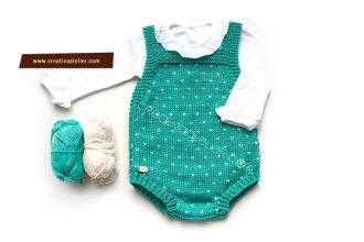 Modèle de tricot salopette rétro en coton