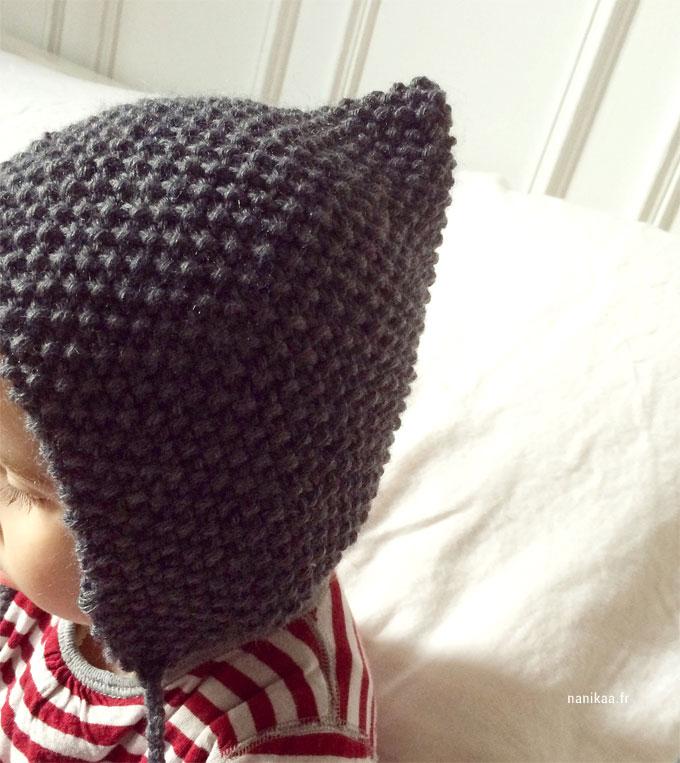 f2d5f0e55454 Modèle tricot de bonnet béguin pour bébé • Tricot and Co.