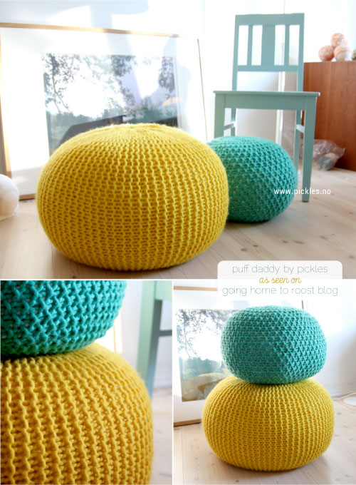 Tuto tricot pouf au point mousse