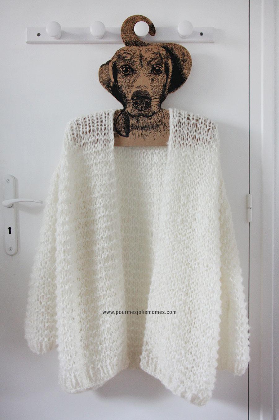Mod le de tricot maxi gilet femme tricot and co - Tuto tricot debutant gratuit ...