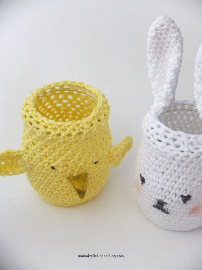 DIY Pâque au crochet : amigurumi cache-pots en forme de lapin