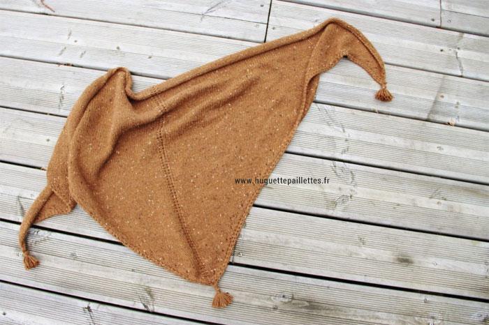Tuto tricot de châle avec pompons