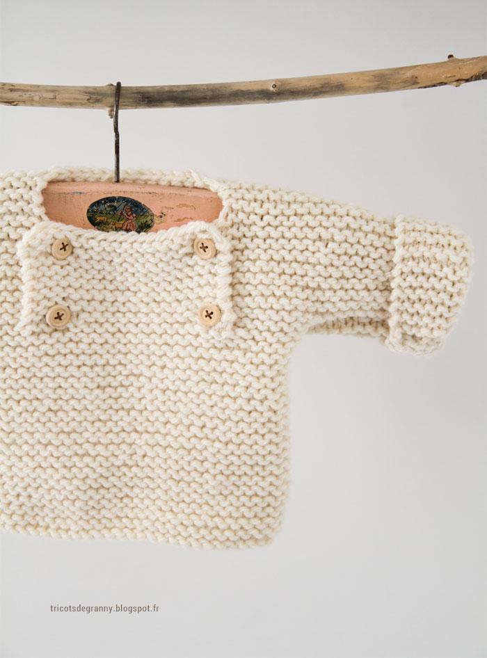 Tuto tricot gratuit de pull pour bébé