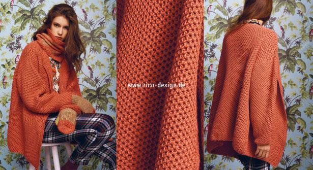 Tricoter veste oversize au tricot avec point d'alvéole