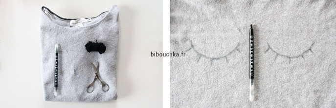 DIY couture simple facile et rapide : customiser un pull avec des broderies
