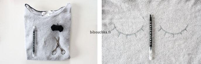 DIY couture simple facile et rapide : customiser un pull avec des broderies