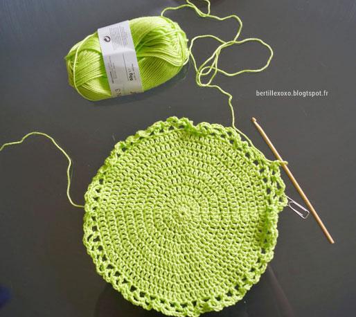 Tuto Pour Réaliser Un Filet à Provisions Au Crochet Tricot