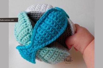 Tutoriel DIY pour réaliser une balle de préhension au crochet montessori